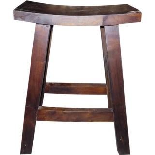 Indonesian Teak Bar Stool