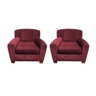 Custom Donghia Upholstered Armchairs - Pair