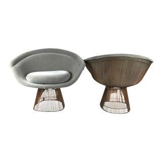 Warren Platner Copper Lounge Chairs
