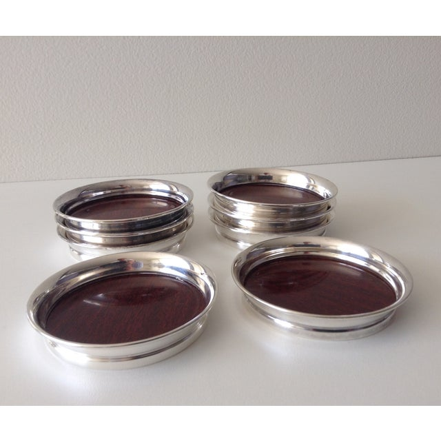 Vintage Silver Plate Mica Drinks Coasters S 8 Chairish