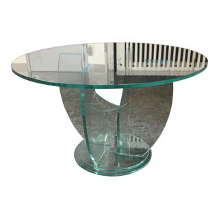 Round Glass Top Table & Glass Base