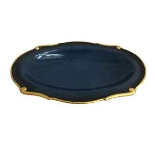Victorian Blue & Gold Tray
