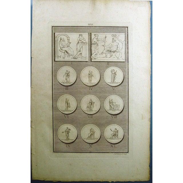 1755 Engraving Roman Medallions - Image 2 of 6