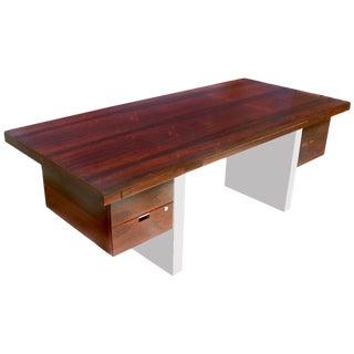 Dunbar Roger Sprunger Stainless Rosewood Desk