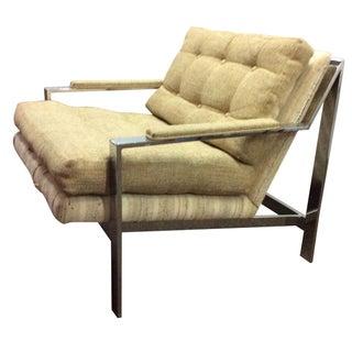 Milo Baughman Chrome Lounge Chair 1970s Modern