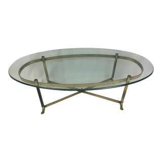 Oval Glass Cocktail Table