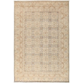 New Khotan Hand-Knotted Rug - 6′2″ × 9′