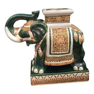 Vintage Chinoiserie Elephant Garden Stool