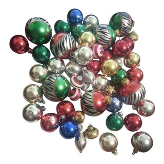 Vintage Glass Christmas Bulbs 50 Plus