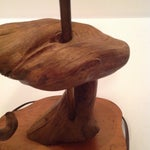 Image of Vintage Knotted Driftwood Lamp With Black Shade