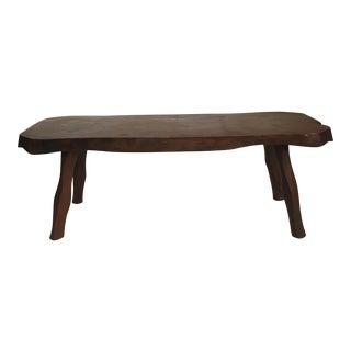 Dark Wood Rustic Table