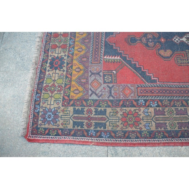 Turkish Handmade Floor Rug - 4′5″ × 8′3″ - Image 6 of 6