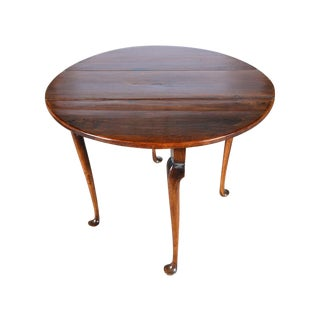 Queen Anne Antique Mahogany Drop Leaf Table