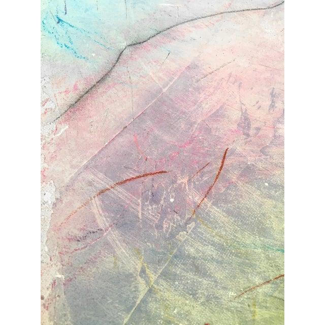 Framed Abstract Pastel & Plaster on Canvas Board - Image 3 of 6