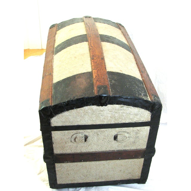 Image of 100 Year Old Saratoga Petite Dome Top Doll Trunk