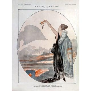 """Hérouard 1921 La Vie Parisienne 'Anniversary of Napoleon's Death"""" Print"""