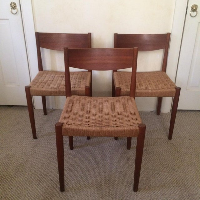 Danish Modern Dining Chairs - Set of 3 - Image 2 of 7