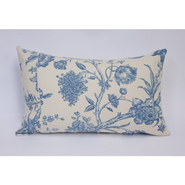 Deconstructed Cream & Blue Floral Pillow - Image 3 of 5