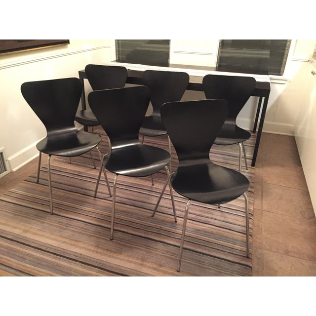 Black Butterfly Dining Chairs - Set of 6 - Image 2 of 9