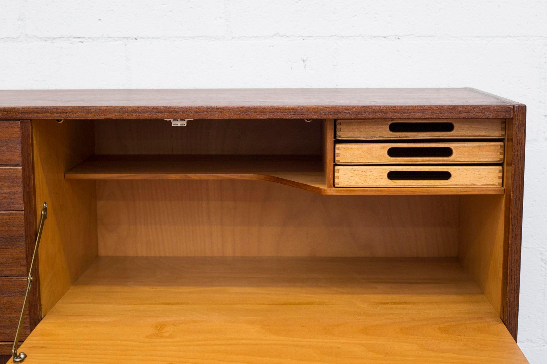 Mid Century Modern Teak Sideboard Desk Chairish