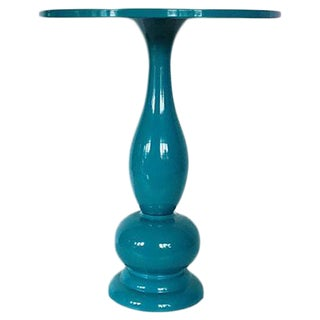 Teal Lacquer Bistro Table