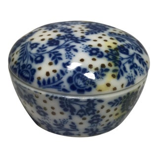 Blue & White Ceramic Trinket Box