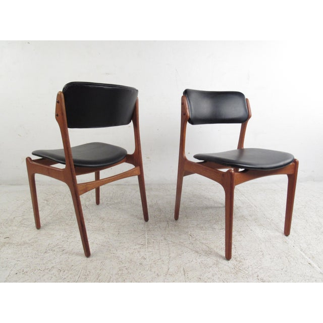 Vintage Erik Buch Scandinavian Modern Dining Chairs - Set of 6 - Image 5 of 11