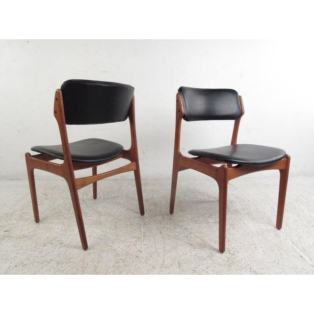 Image of Vintage Erik Buch Scandinavian Modern Dining Chairs - Set of 6
