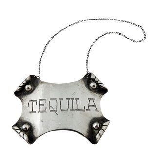 Sterling Siver Tequila Liquor Label