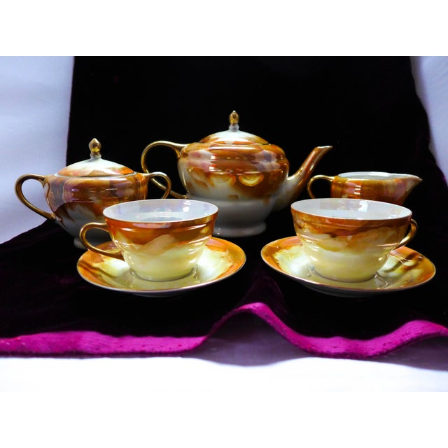 Image of Lusterware Tea for Two Set