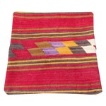 Image of Vintage Red Turkish Kilim Pillow