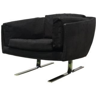 Black Lounge Chair by Founders