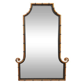 Hollywood Regency Faux-Bamboo Mirror