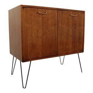 American of Martinsville Mid-Century Hairpin Leg Walnut Cabinet