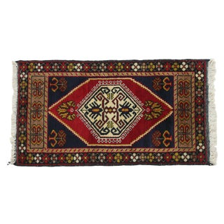 "Hand-Knotted Anatolian Rug - 3' 5.5"" x 1' 9.5"""