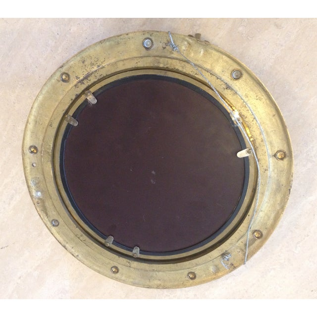 Decorative Brass Porthole Mirror - Image 5 of 6