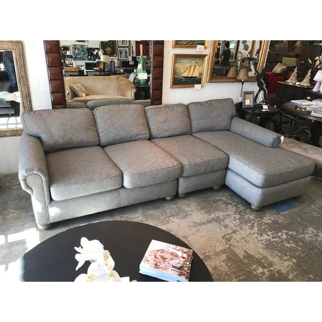 Restoration Hardware Gray Lancaster Sectional Sofa - Image 4 of 4