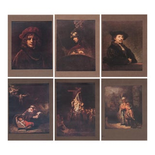 Antique M. Menpes Rembrandt Lithographs - Set of 6