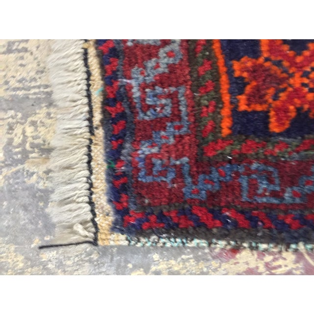"""Vintage Red Persian Rug - 1'11"""" x 2'4"""" - Image 7 of 9"""