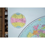 Image of Antique Pull Down World Map of Eastern Hemisphere