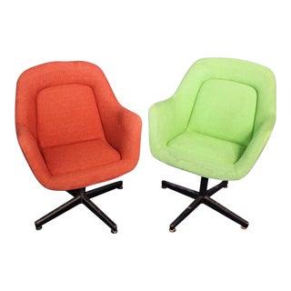 Vintage Knoll Mid-Century Modern Club Armchairs - A Pair