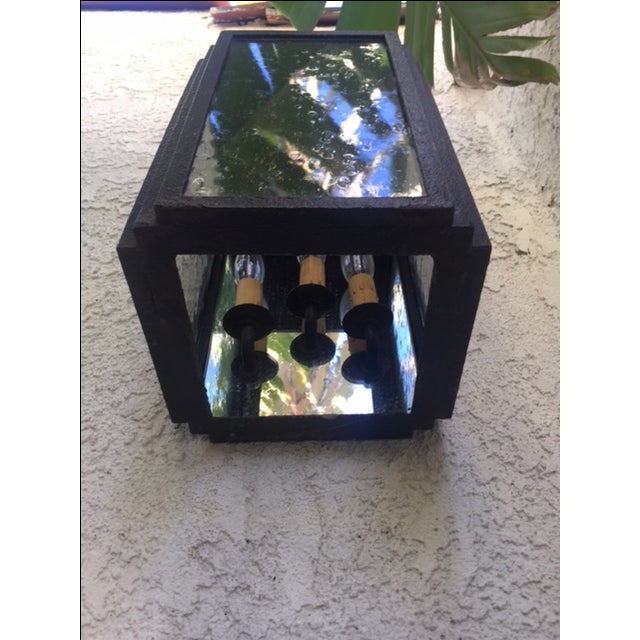 Iron and Glass Outdoor Lantern - Image 6 of 6