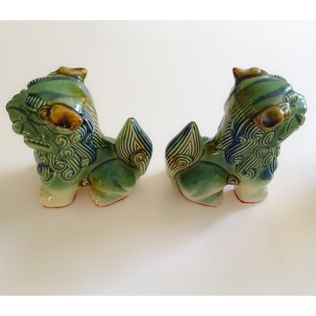 Ceramic Foo Dog Figurines - Pair - Image 5 of 10