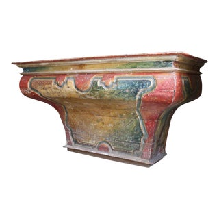 Monumental Italian Faux Painted Altar Table/Console