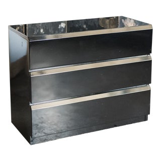 Black Lacquer Modern Chest by Lane