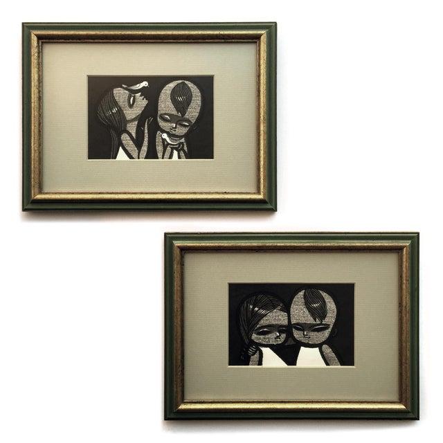 Shuzo Ikeda Ukiyo-E Woodcut 1960s - A Pair - Image 1 of 4