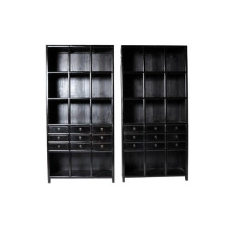 Chinese Display Cabinets with Nine Drawers