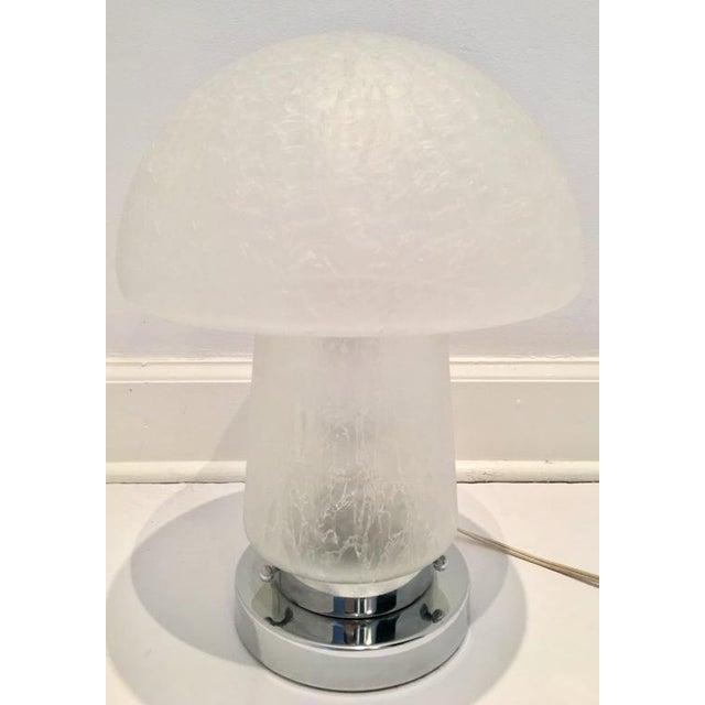 Italian Murano Glass and Chrome Mushroom Lamp - Image 2 of 8