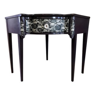 Victorian Purple & Lace Corner Desk