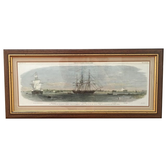 Framed Ships in Charleston Harbor Print - Image 1 of 10